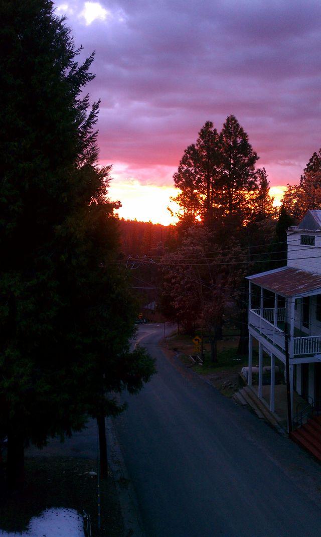 Sunset from third floor balcony Winter 2013